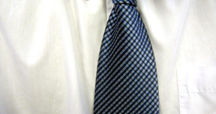 Węzeł Cavendish na krawacie